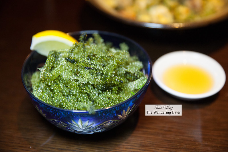 Bowl of Okinawa sea grapes