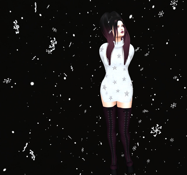 Sn@tch a snowflake- Solar long sequin sweater, Sn@tch