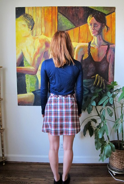 Plaid Rosari Skirt - back