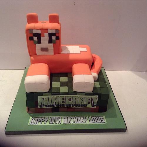 Stampy Birthday Cake