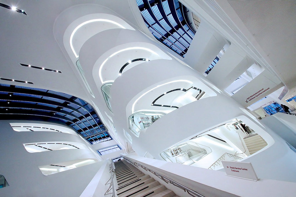 The library and learning center by zaha hadid vienna univ for Zaha hadid vienna