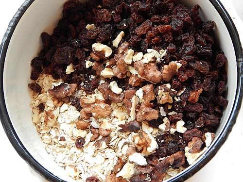 рецепт овсяного печенья с изюмом и орехами   horoshogromko.ru