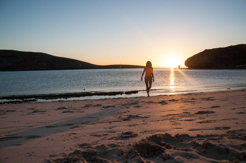 Atardecer-Playa-Balandra-Viaje-Mochilero