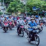 Traffic in Ho Chi Minh City (Saigon) - Vietnam