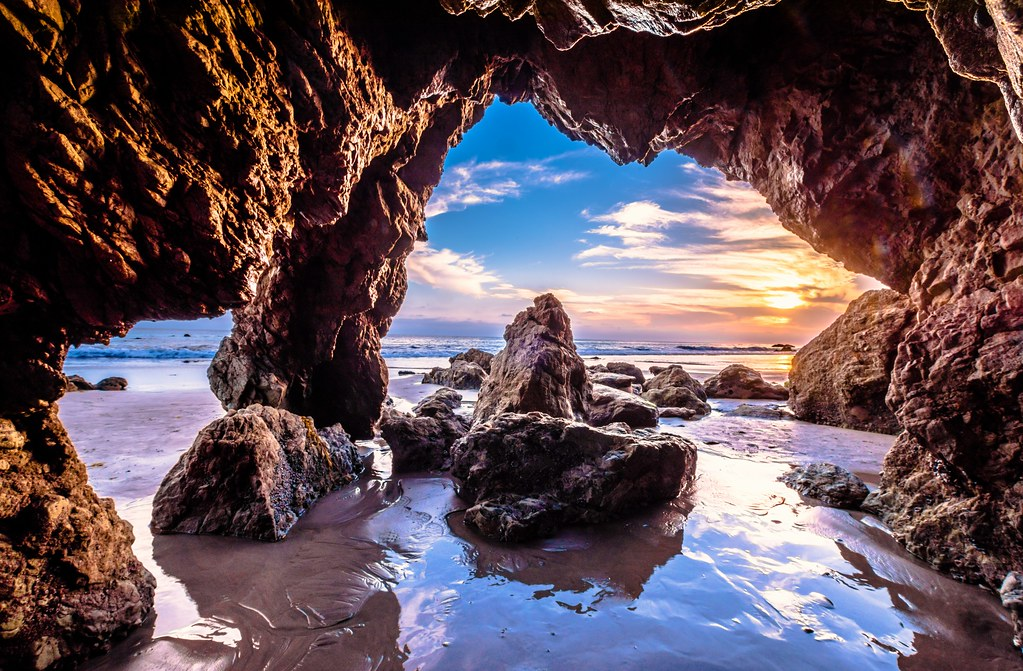 Nikon D810 Hdr Photos Malibu Sea Cave Sunset Dr Elliot M