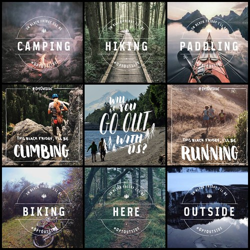 I like this movement to turn Black Friday into #OptOutside