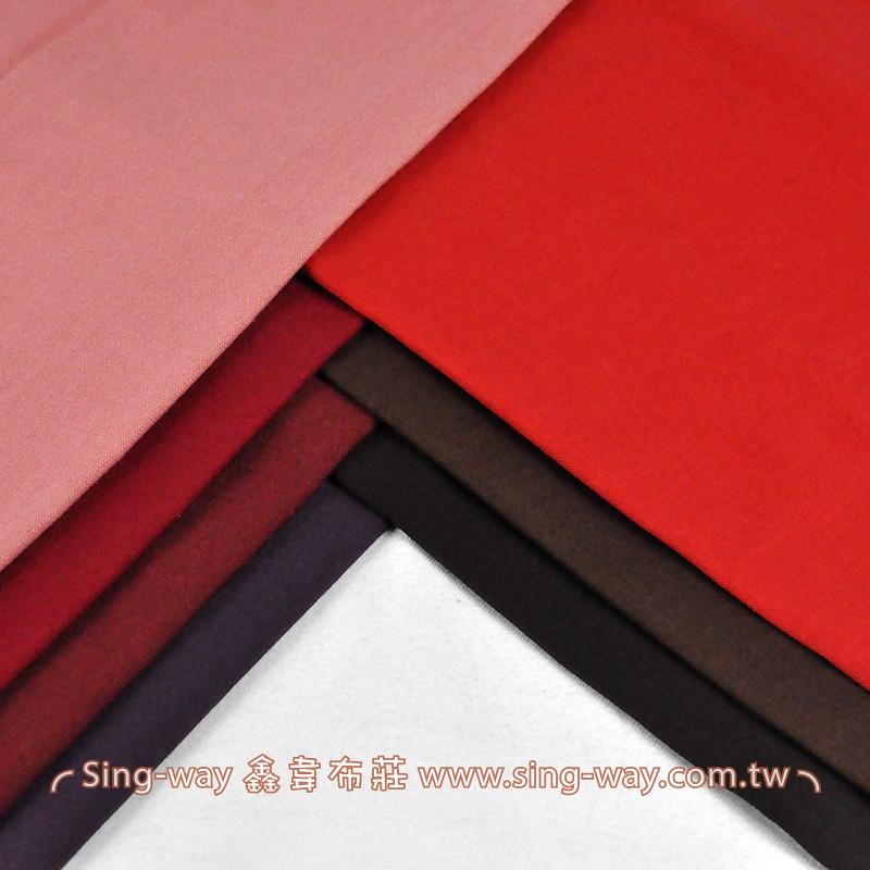 CF390009 紅色系 素面節紗棉布