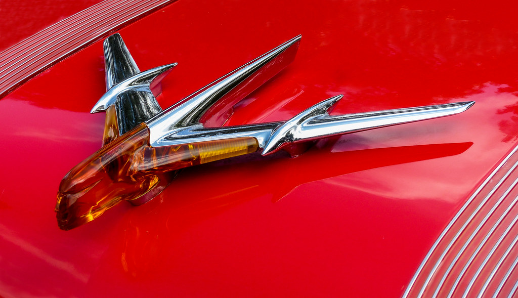 1955 Pontiac Star Chief Hood Ornament Boyne City
