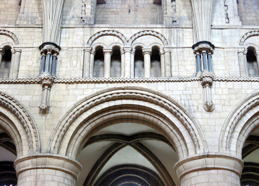 The North Arcade And Triforium Detail Of Norman Nave