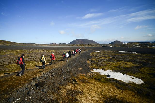 Trekking entre volcanes en Islandia