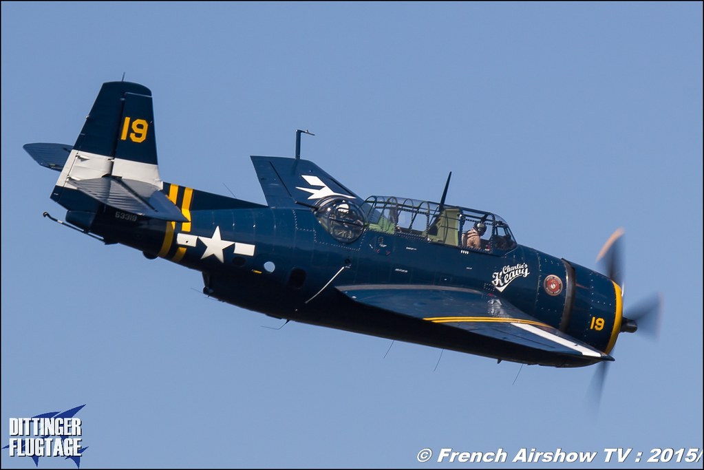 Grumman/Eastern TBM-3R Avenger – HB-RDG, Dittinger Flugtage 2015 , Charlie's heavy, Internationale Dittinger Flugtage, Meeting Aerien 2015