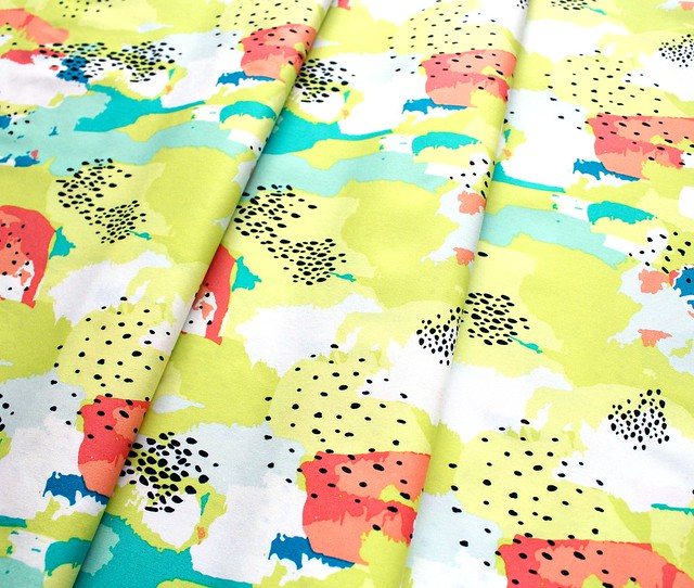 Art Gallery Fabrics Here Comes the Fun Improv Strokes Citrus