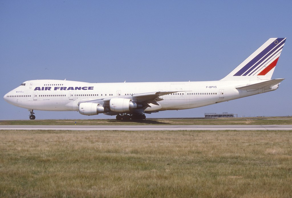 Air france boeing 747 200 f bpvs august 1994 this for Interieur 747 air france