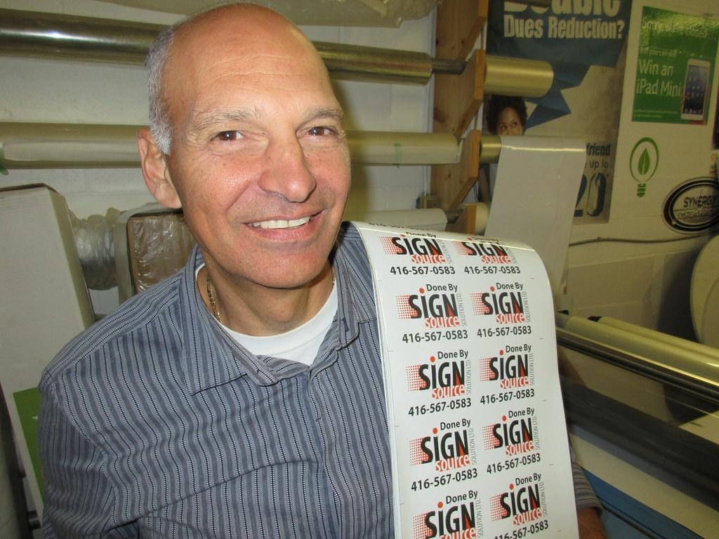 Avi Barak at Sign Source Soluton vinyl car wrap