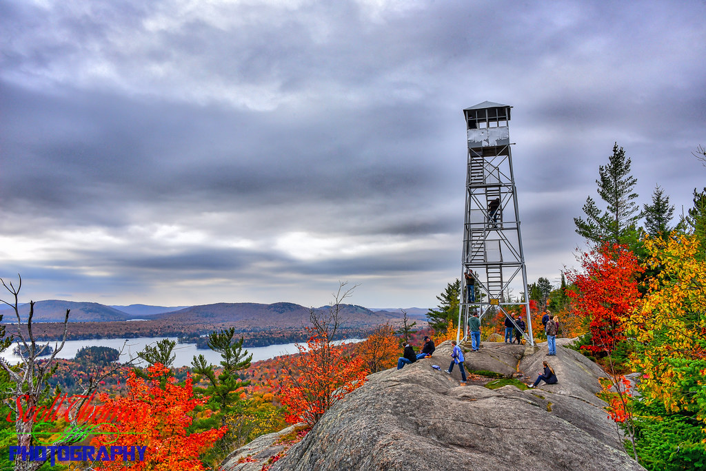Rondaxe Fire Tower | Rondaxe Fire Tower at the summit of ...