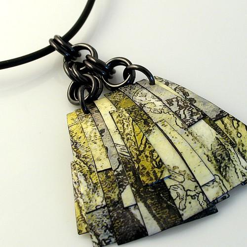 Diane Ferguson Paper Pendant Necklace