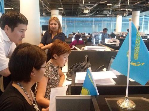 ICFJ Knight Fellow John Kluver in Kazakhstan