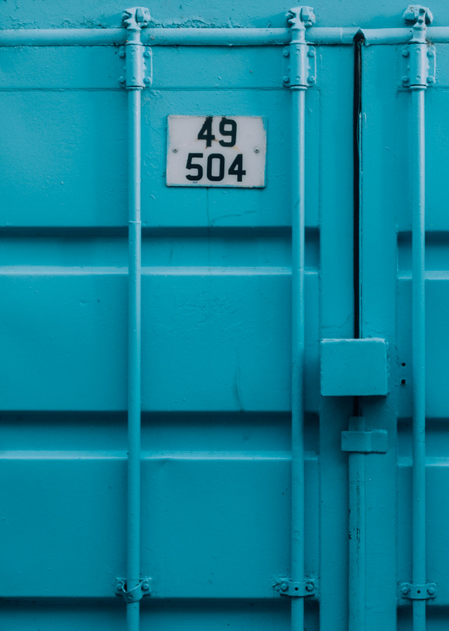 turquoise blue container