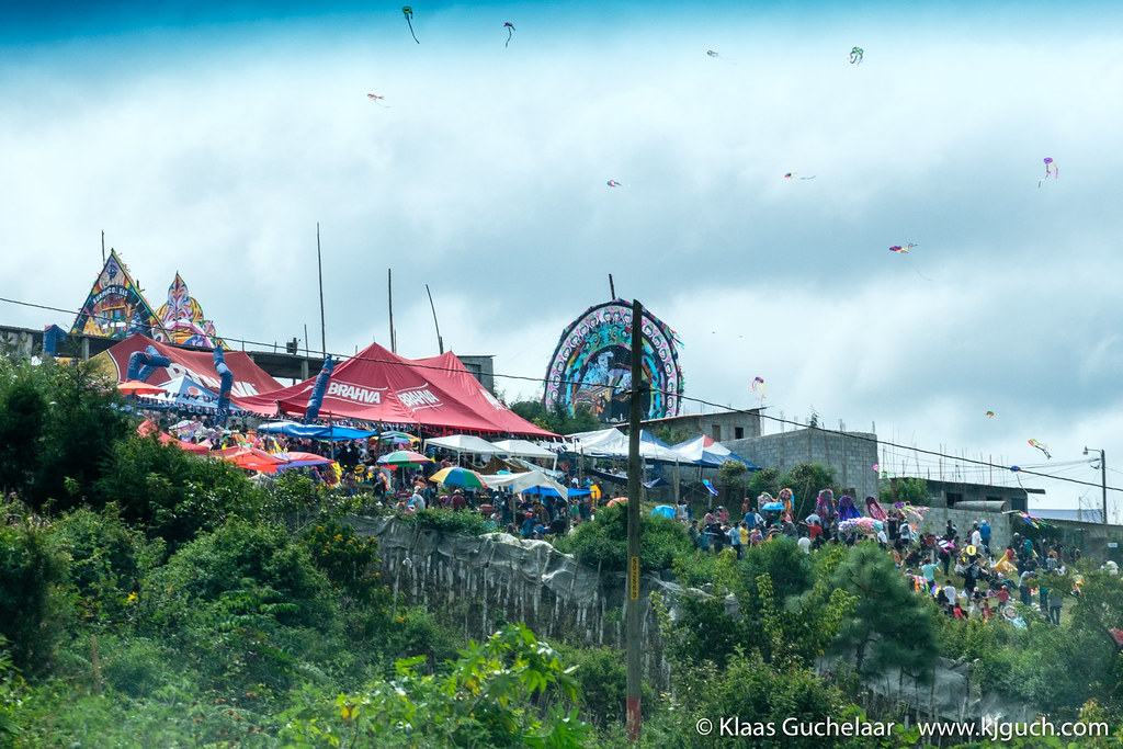 On the road to Atitlan, we see a huge kite-festival