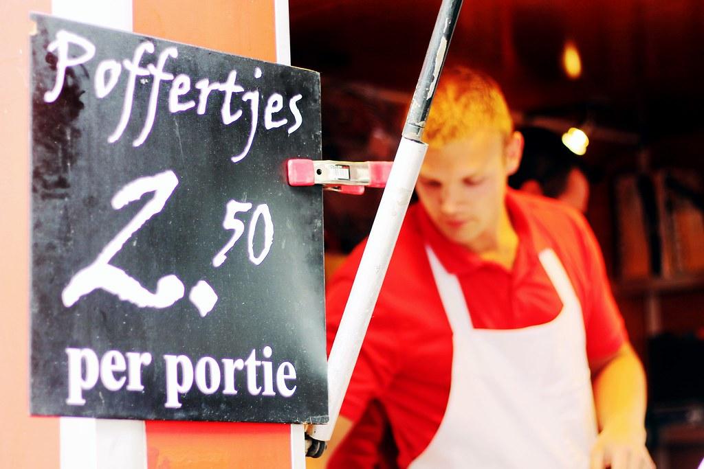 Drawing Dreaming - onde e o que comer em Amsterdão - Albert Cuyp Markt, poffertjes