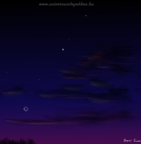 Planets Venus, Mars Jupiter & Moon Conjunction - Bognár Tamás