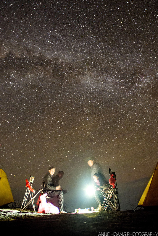 milky-way over Mount Rinjani