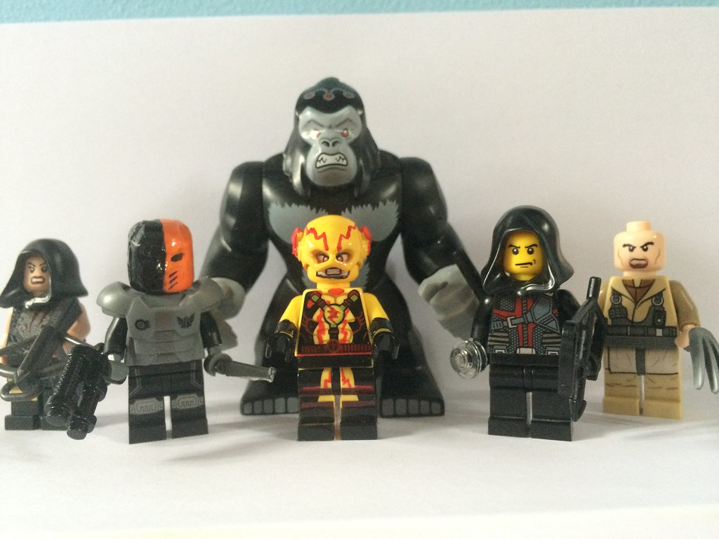 Lego Flash And Arrow Villains From Left To Right