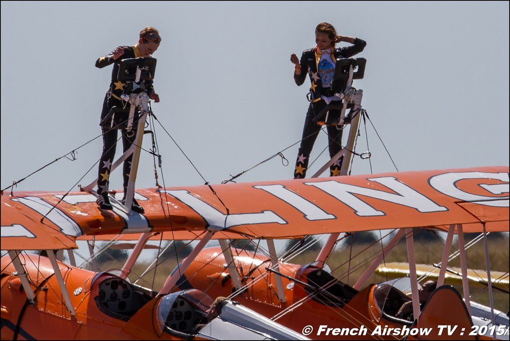 Breitling Wingwalkers , aerosuperbatics , wing walking uk ,28th FAI World Aerobatic Championships 2015 , WAC 2015 - France , Championnats de Monde de Voltige aérienne 2015, Meeting Aerien 2015