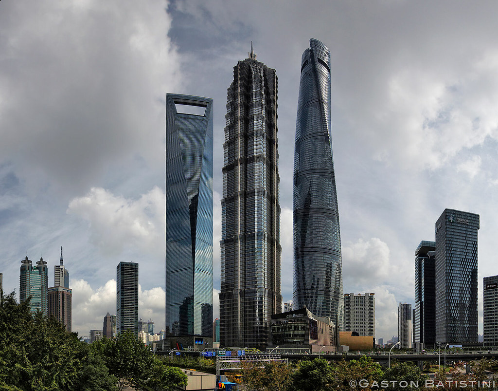 New Shanghai skyline, Pudong, Shanghai World Financial Cen ...