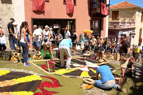 Flower carpets, Corpus Christi, La Orotava, Tenerife