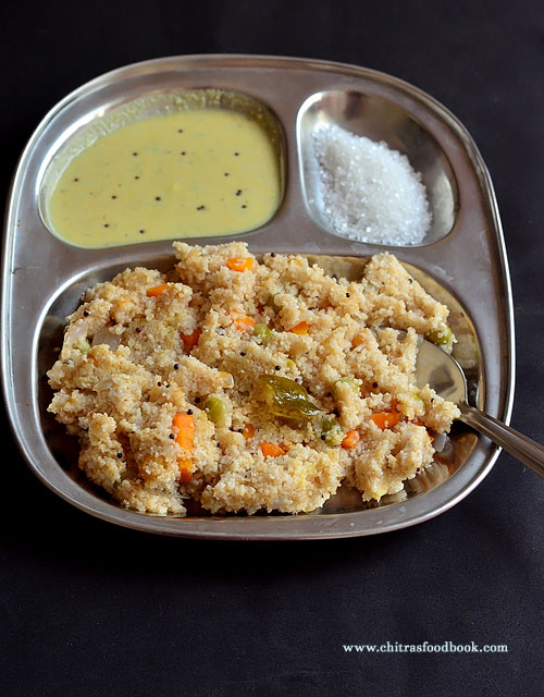 Wheat rava upma recipe
