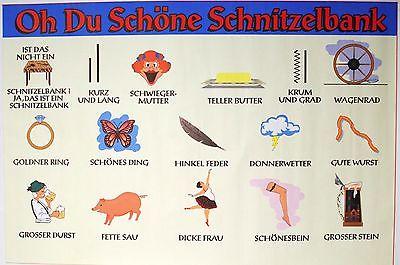 German-Schnitzelbank-Poster