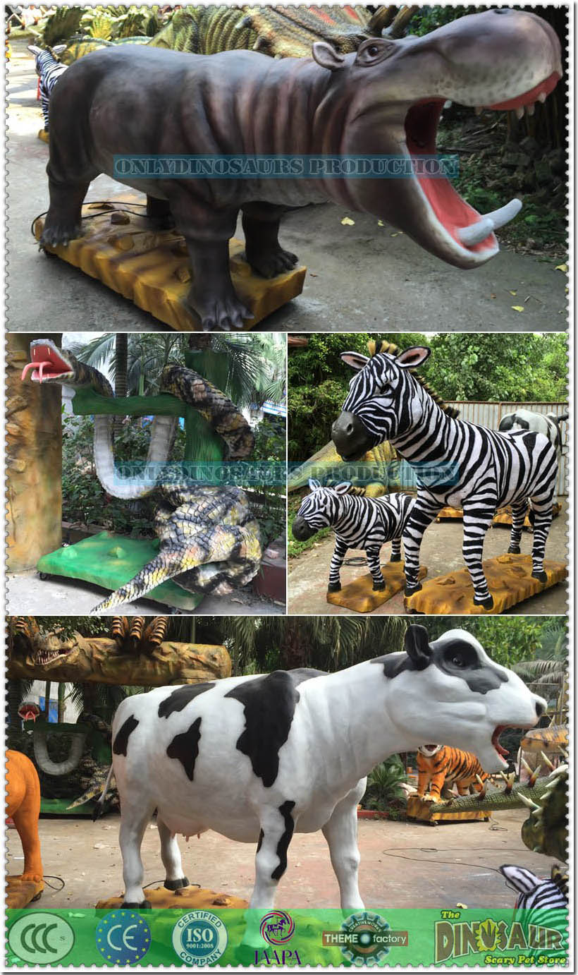 Animatronic Rainforest Animal Models