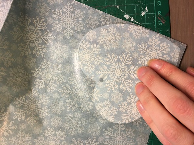 Handmade Christmas Decoration – Decoupaged Heart by StickerKitten. Step 4: Smooth out any air bubbles