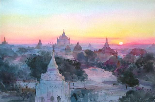 Pintura de Bagan (Myanmar)