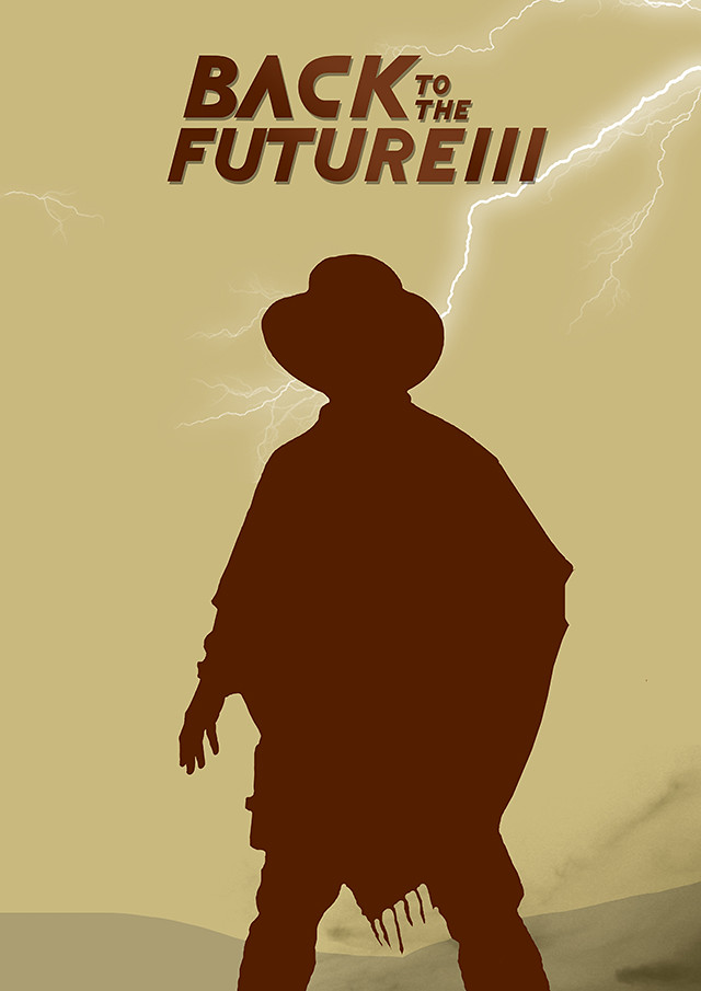 Back to the future three poster design