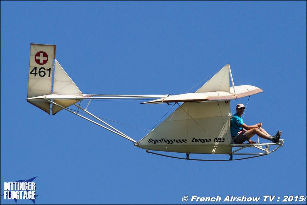 Segelfluggruppe Zwingen , Karpf Zögling , HB-461 , glider, Dittinger Flugtage 2015 , Internationale Dittinger Flugtage, Meeting Aerien 2015