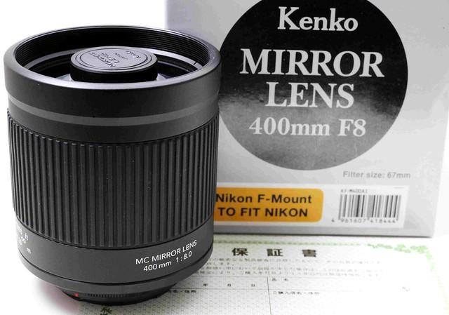 二手鏡頭 香港 . . . Kenko Mirror 400mm F8 (Nikon)  全片幅輕便反射鏡    夠利夠細支