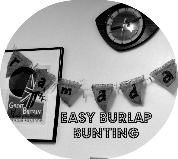 easy burlap bunting tutorial