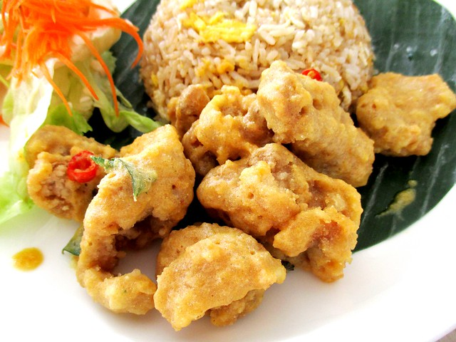 Golden salted egg chicken