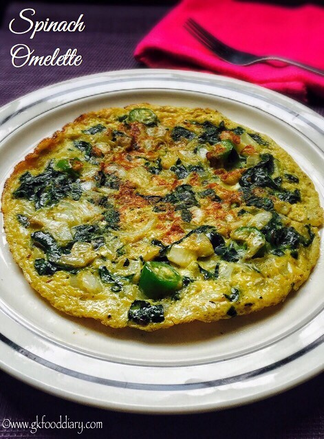 Spinach Omelette Recipe for Babies, Toddlers and Kids3