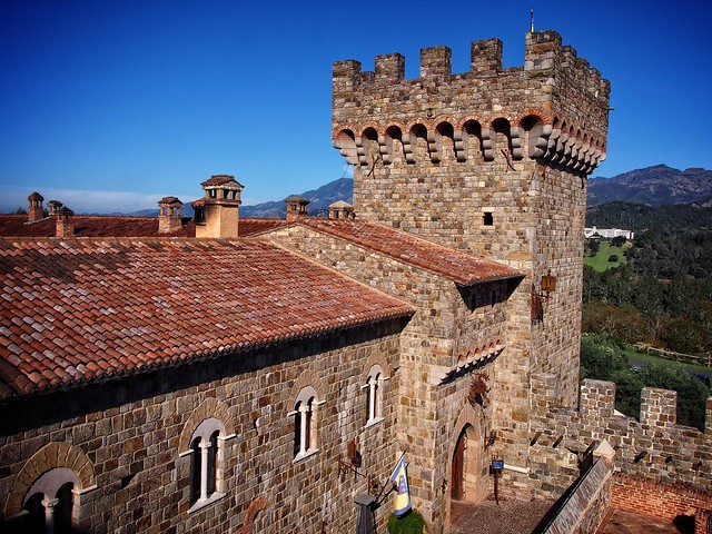 Castello Di Amorosa Rooftops