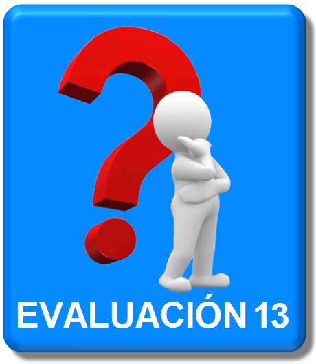 evaluación 13