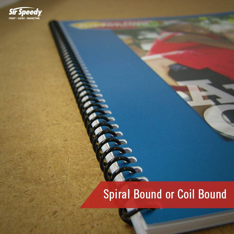 Types Of Book Binding-Spiral Bound Or Coil Bound