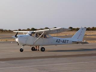 Avioneta con la que sobrevolamos el Delta del Okavango (Botswana)