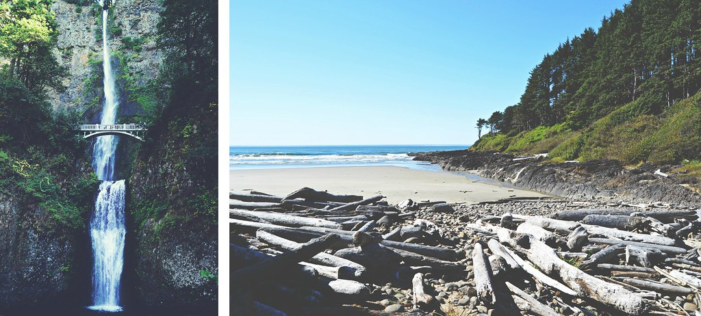 Multnomah Falls & Oregon Coast, USA | via It's Travel O'Clock