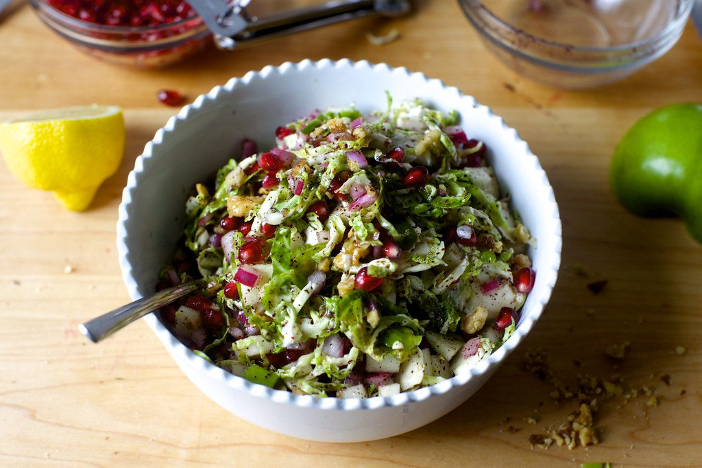 brussels sprouts, apple and pomegranate salad | Brussels ...