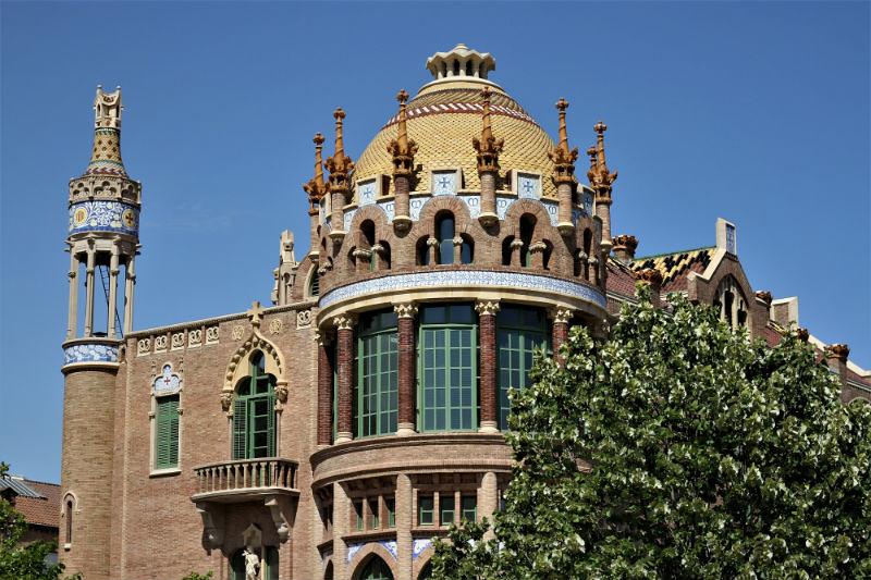 Recinto modernista Sant Pau en Barcelona