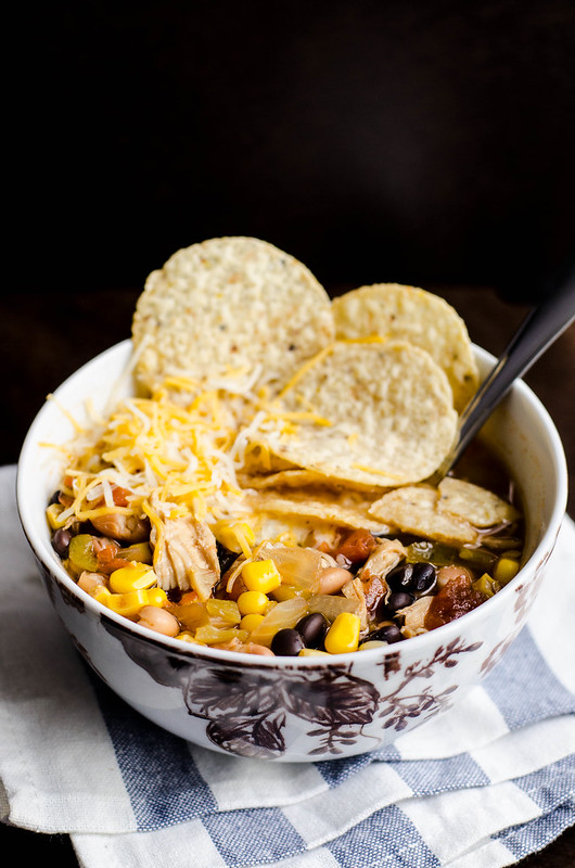 Slow Cooker Chicken Tortilla Soup | cookingalamel.com
