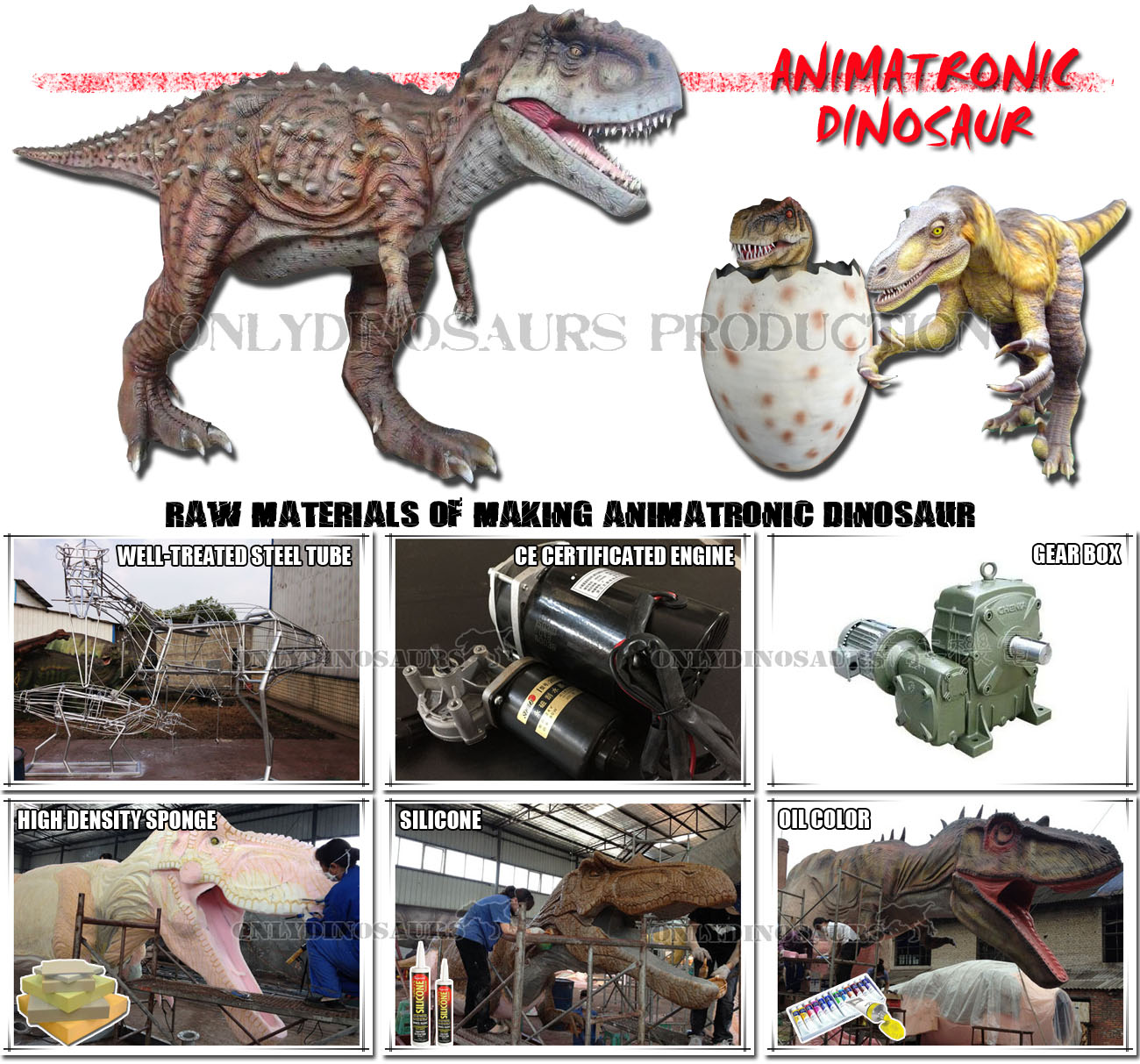 Raw Materials of Making Animatronic Dinosaur